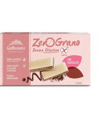 Włoskie wafelki czekoladowe, bezglutenowe Zero Grano - Galbusera