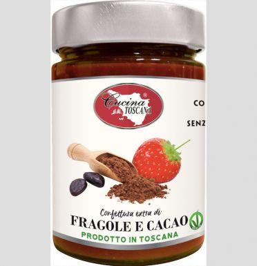 Włoska konfitura truskawkowa z kakao - Cucina Toscana