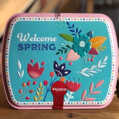 Babka w puszce - wzór Welcome Spring