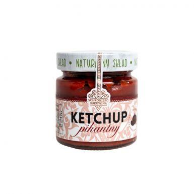Ketchup pikantny, bez konserwantów.
