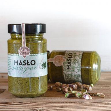 Masło pistacjowe ma 100 procent pistacji w składzie. To jedyny składnik