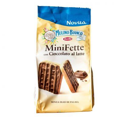 Mulino Bianco MiniFette oblane mleczną czekoladą.