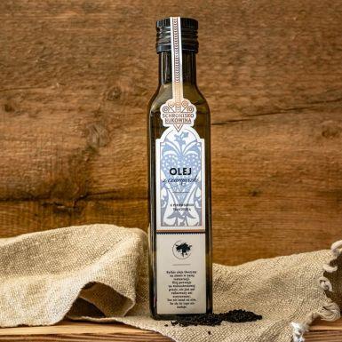 Olej z czarnuszki tłoczony na zimno - nie oczyszczany, niefiltrowany, nie rafinowany