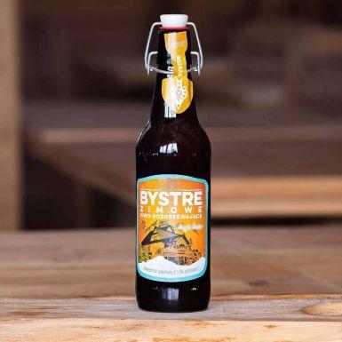 Piwo Bystre Zimowe - dostępne jest tylko sezonowo