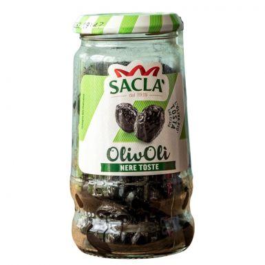 czarne oliwki bez wody Sacla w oliwie