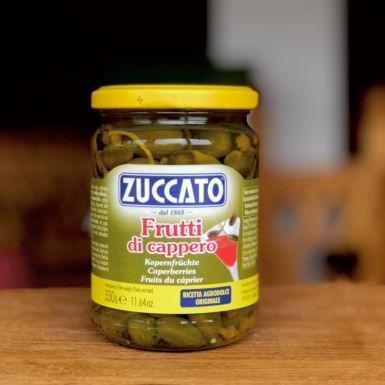owoce kaparów z ogonkami w occie winnym Zuccato