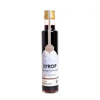 Syrop z czarnych porzeczek, dwa składniki - bez konserwantów.