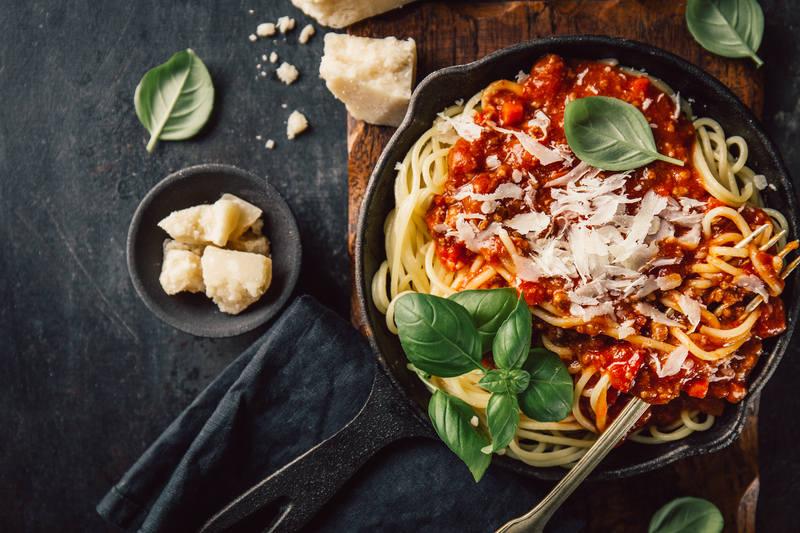 parmezan na spaghetti