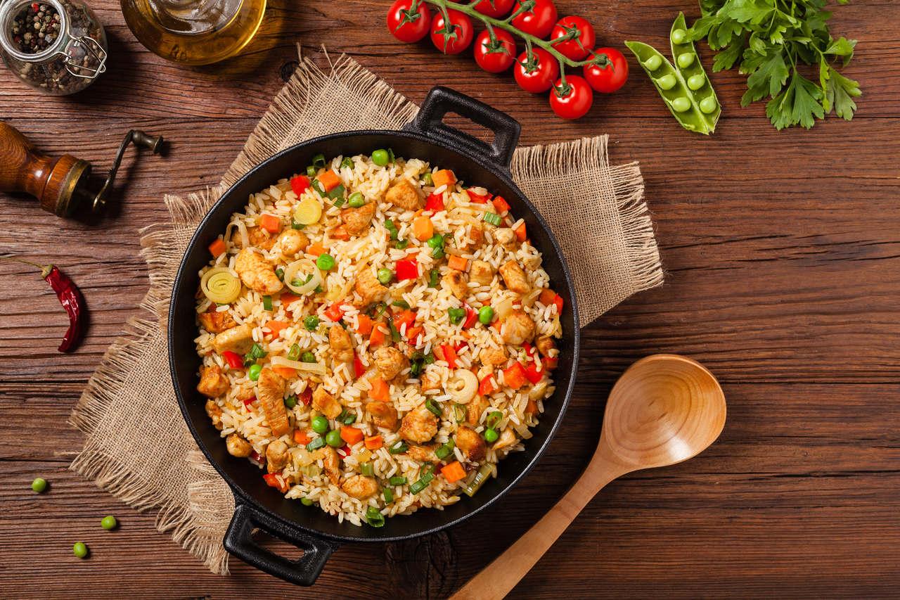 pomysł na obiad z ryżem - ryż z warzywami