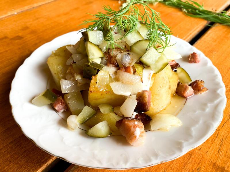 ziemniaki po góralsku - sposób podania